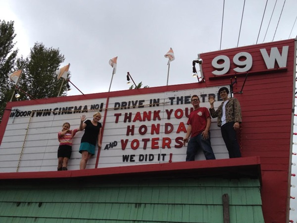 99W Drive-In won Honda contest