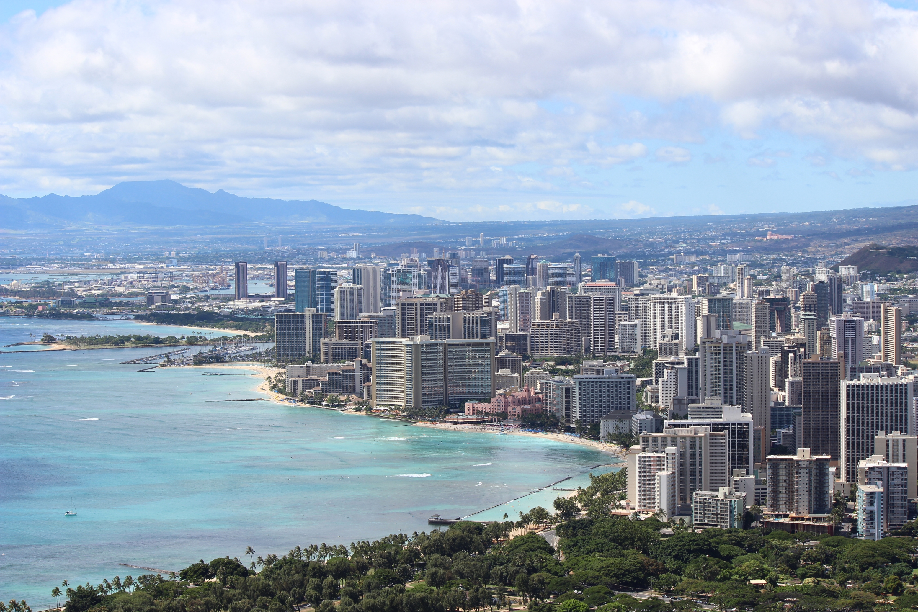 View of Waikiki from Diamondhead