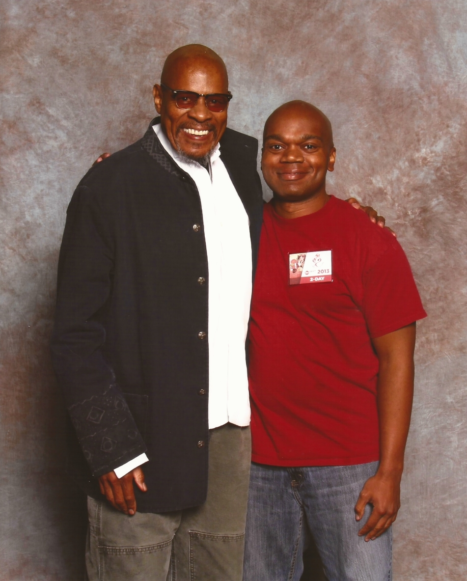 me and Avery Brooks